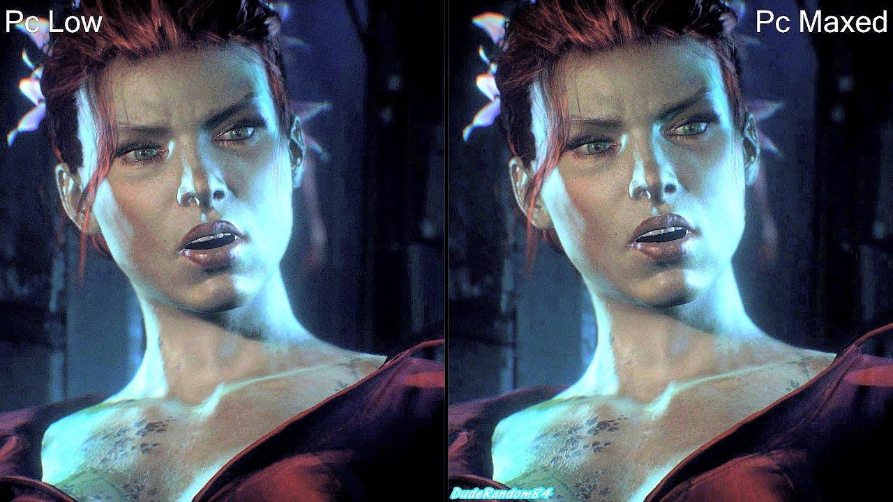 Arkham knight pc patch comparison