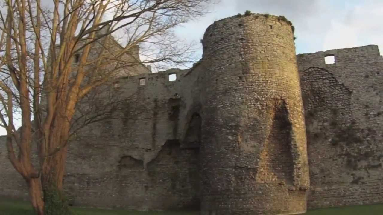 Portchester Castle : 900-year old Medieval castle - YouTube