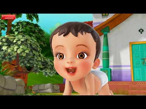 Chinna Pappa Veedhilo   Telugu Rhymes for Children   Infobells