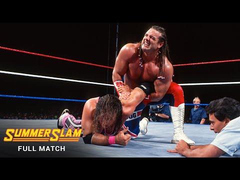 FULL MATCH - Bret Hart vs. British Bulldog - Intercontinental Title Match: SummerSlam 1992