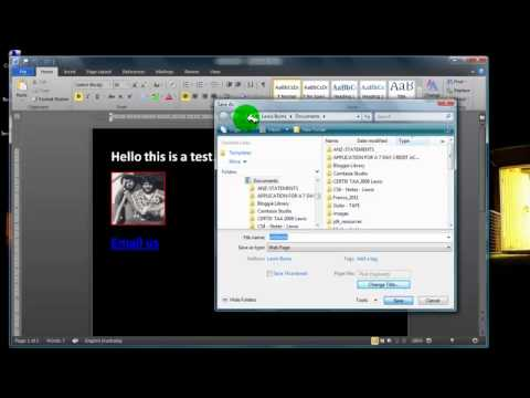 Tutorial - Create a web page using MS Word then upload using Filezilla2.mp4