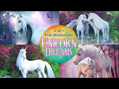 Sleep Meditation For Kids | UNICORN DREAMS |  4 In 1 Bedtime Stories For Kids About Unicorns