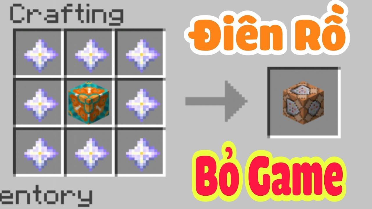 TOP 4 CÔNG THỨC ĐIÊN KHÙNG KHIẾN NGƯỜI CHƠI PHẢI BỎ GAME TRONG MCPE | Minecraft PE 1.1.4