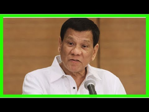 President Duterte orders troops to shoot women in the vagina