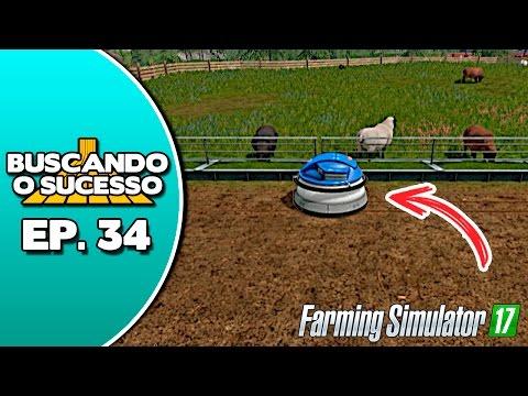 Farming Simulator 17 - ROBÔ LIMPADOR AUTOMÁTICO DE COCHO | TRABALHANDO COM OVELHAS - MOD - PT-BR #34