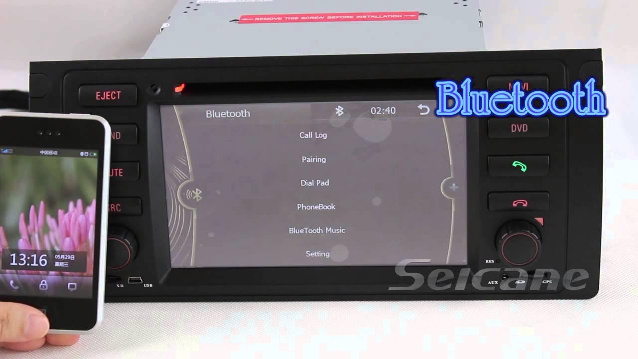 Lecteur dvd de voiture syst me navigation gps pour bmw s ries 5 e39 avec radio bluetooth tv