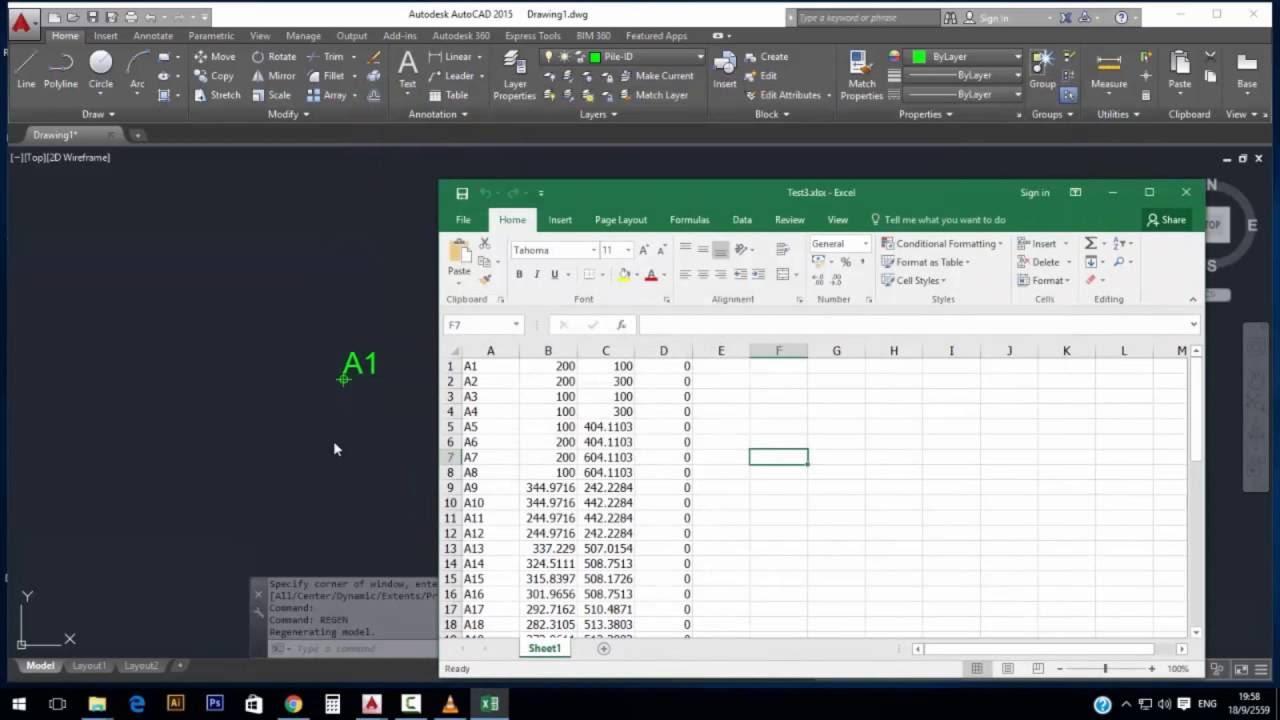 Auto Lisp- NTC ดึงค่าพิกัด จาก Excel ลง Auto CAD | FunnyCat TV