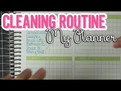 Cleaning Routine Daily  Weekly Checklist Idea  My Planner Series
