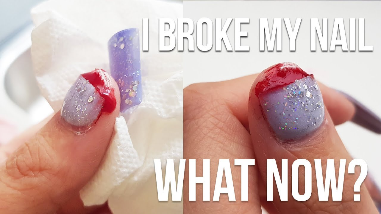 My Acrylic Nail Ripped My Real Nail Off Nailstip
