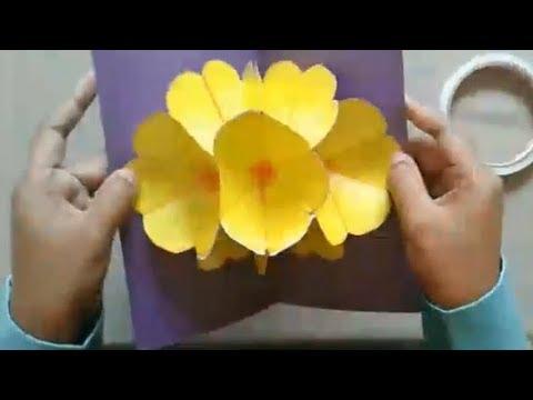 Cara Membuat Bunga Pop Up