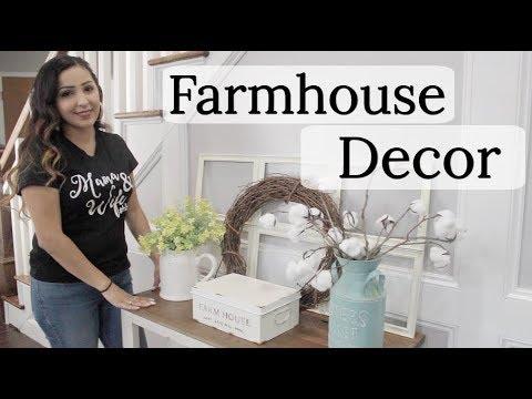 FARMHOUSE DECOR | DECORATE WITH ME | HOBBY LOBBY DECOR