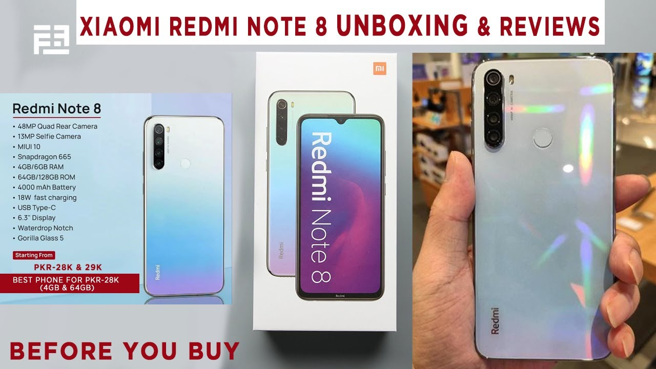 Xiaomi Redmi Note 8 Unboxing In Karachi Pakistan Reviews Rs 28k 4gb 64gb Purchased From Daraz Youtube