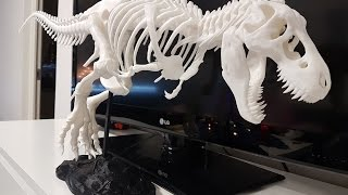 anet a8 3d printer t rex model close up 4k video