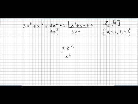 Group Theory 71, Polynomial Rings, Division Algorithm