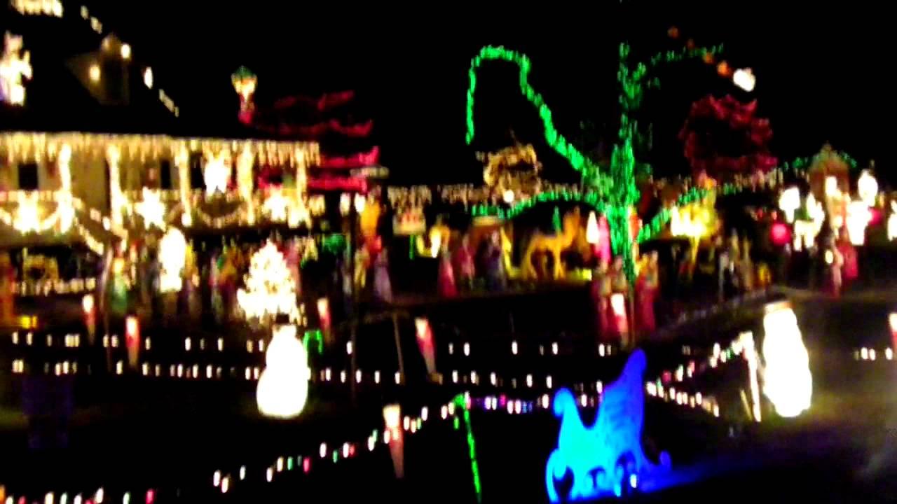 Christmas Lights Penny Road Cary Nc Youtube