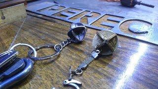 как сделать брелок из монет своими руками \  Keychain coins