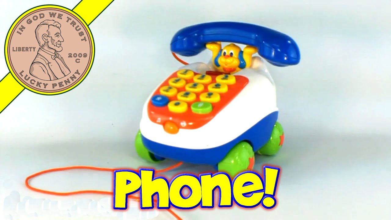 VTech Little Smart Pull n Play Rolling Push Button Phone Talking