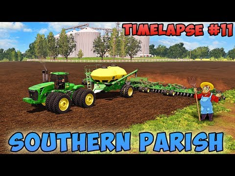 Farming simulator 17 | Southern Parish with Seasons | Timelapse #11 | Sow cotton thumbnail