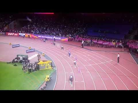 4x100metre relay final Team GB GOLD