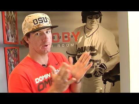 New OSU Baseball Locker Room Tour W Andrew Moore And KJ Harrrison
