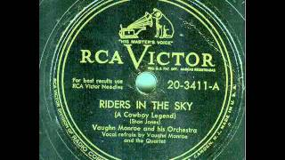 vaughn monroe and his orchestra ghost riders in the sky a cowboy legend original 78 rpm
