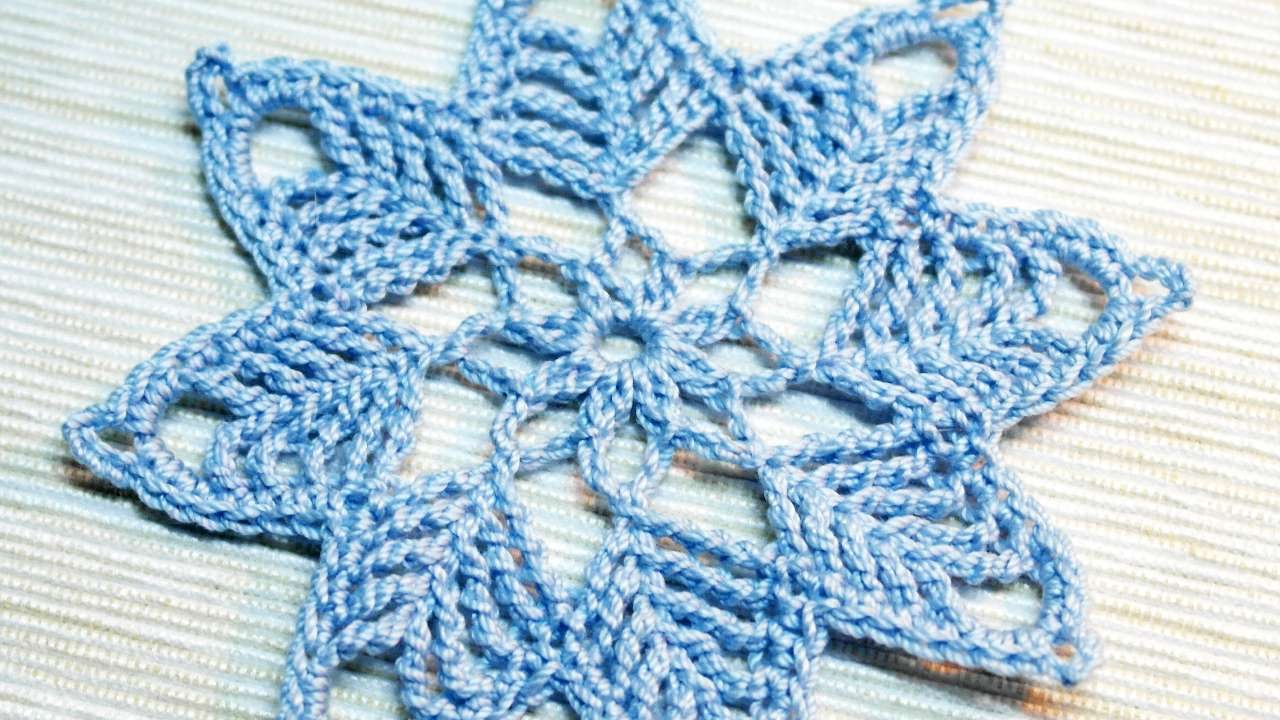 How To Make A Crocheted Snowflake Ornament - DIY Crafts Tutorial ...