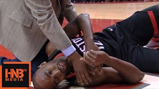 Luc Mbah A Moute Injury / Rockets vs Hornets