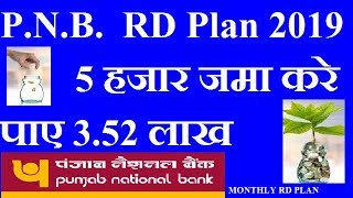 Punjab National Bank RD    PNB RD INTEREST RATES 2019