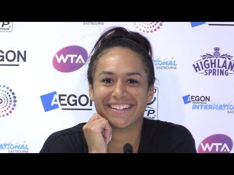 Heather Watson Full Press Conference After Wins Against Pavlyuchenkova & Strýcová At Eastbourne