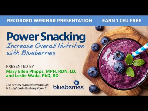 Power Snacking: Increase Overall Nutrition with Blueberries