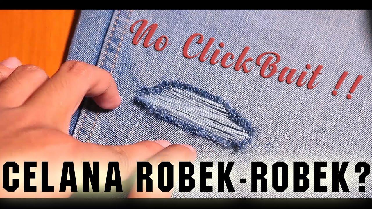 Cara Bikin Celana Robek Robek Berkualitas Tutorial Ripped Jeans Youtube