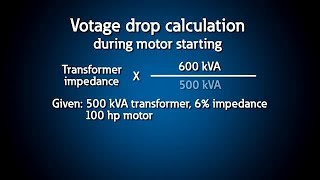 Motor starting - voltage drop calculations screenshot 2