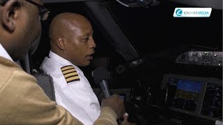 A rare cockpit interview with captain Eric Mbugua on KQ003, NYC-NBO
