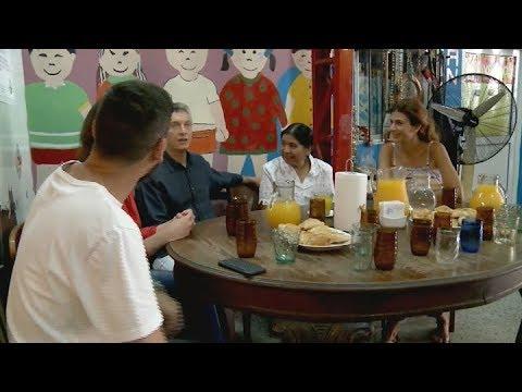 """Macri en el comedor """"Los Piletones"""""""