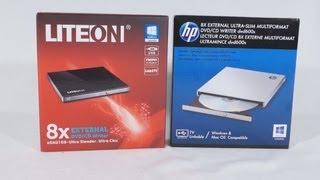 #1459 - LITE-ON & HP External Ultra Slim DVD/CD Writers Video Review