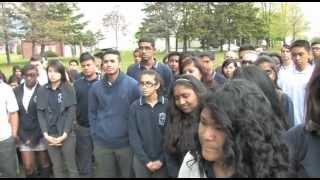 Blessed Pope John Paul II Catholic S.S. embraces their school community with Heartspeak