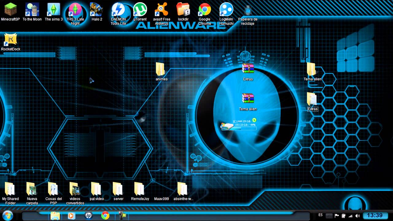 Deviantart 3d Wallpaper Como Descargar E Instalar Tema Alienware Para Windows 7 32