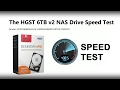 HGST 6TB NAS V2  Speed test with Black Magic - HDN726060ALE614 0S03941