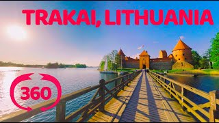 Lithuania, bridge to Trakai castle. VR 360 video.(Lithuania, bridge to Trakai castle situated on lake island. Subscribe to our channel and stay tuned! More VR travel, nature and landmarks video from around the ..., 2016-05-15T15:53:41.000Z)