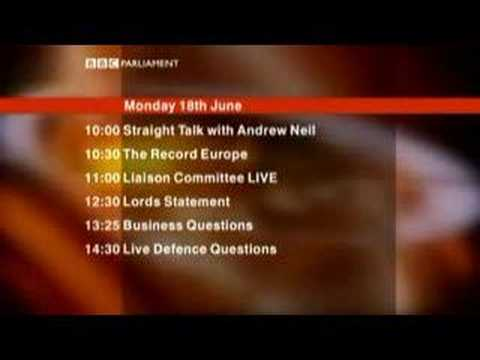 BBC Parliament Ident and Schedule