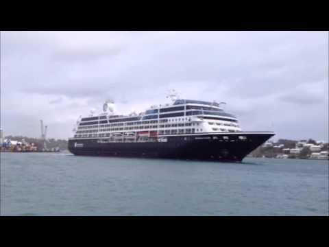 Azamara Quest Departs Bermuda, Mar 17 2013