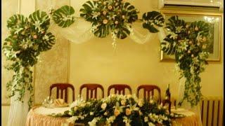 Украшение зала цветами на свадьбу Алматы