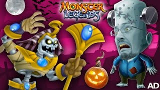 FGTEEV MONSTER LEGENDS BATTLE 🎃 Halloween Game Time Fun! 👾 👹 💀 (DUDDY vs. BOSS)