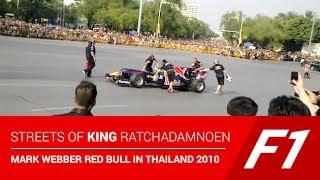 Streets of King Ratchadamnoen F1 Mark Webber Red Bull in Thailand 2010