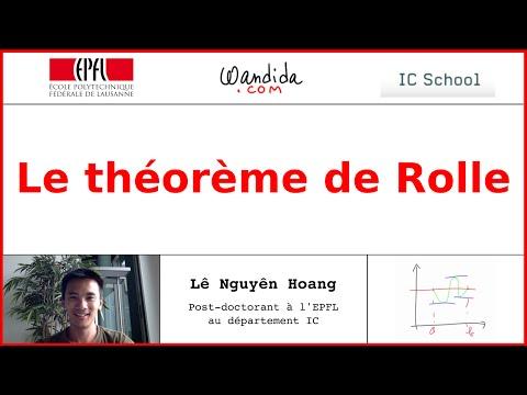 Le théorème de Rolle | Lê Nguyên Hoang