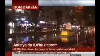 Antalya'da 6 Büyüklüğünde Deprem: 'Görmezlikten gelindi'