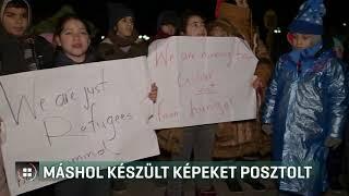 Évekkel korábban készült képekkel illusztrálta a menekültek demonstrációját 20-02-08