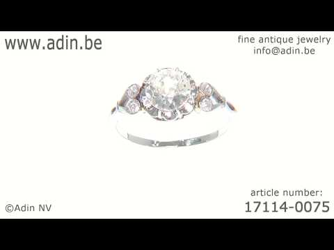 Belle Epoque diamond engagement ring a so called solitair. (Adin reference: 17114-0075)