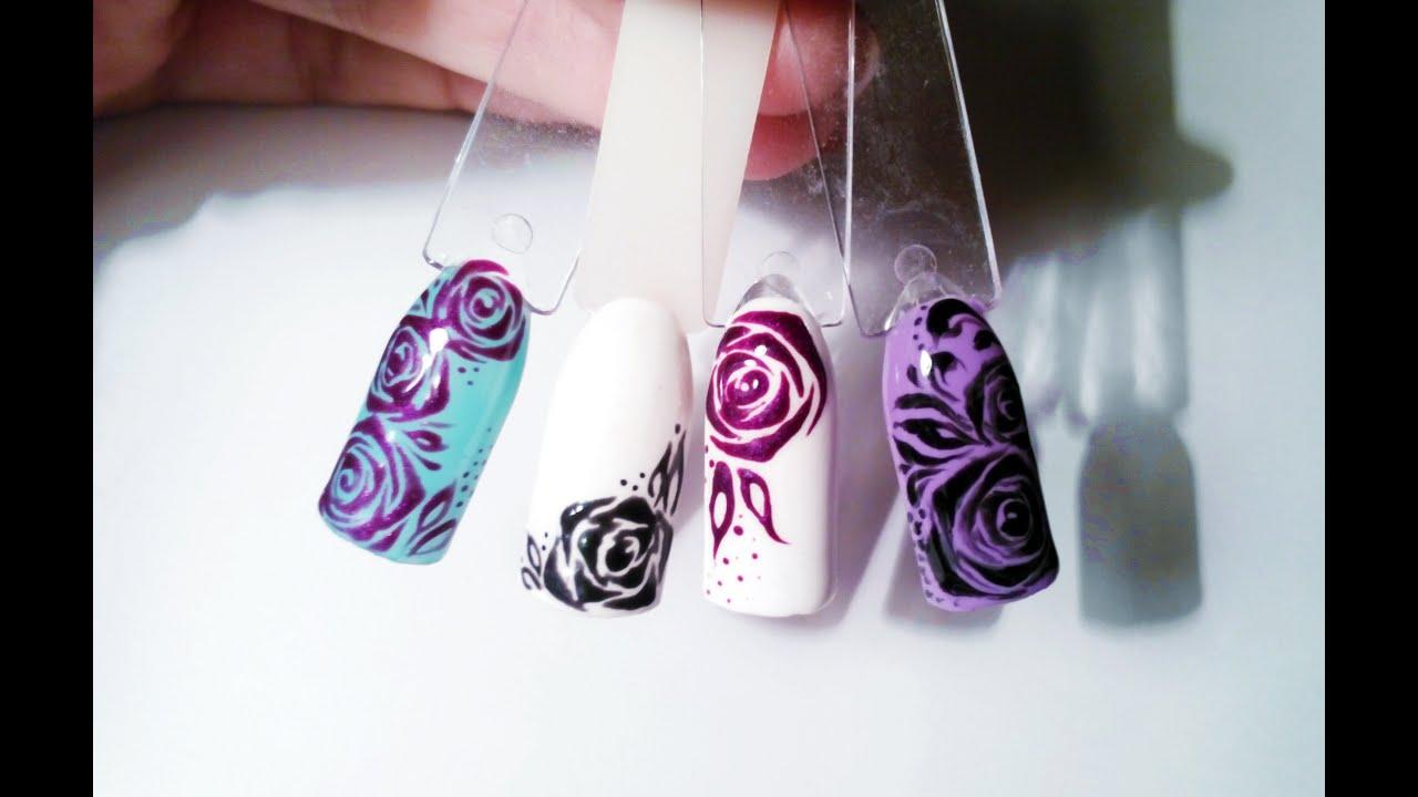 Дизайн розы с вензелями