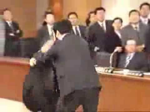 South Korean Parliament Brawl - Judo Fighter (FLAWLESS TOMOE NAGE)